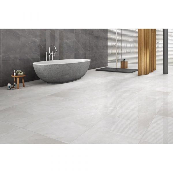 Total Tile and Bathrooms | Armani Bianco-Gris | Roomset