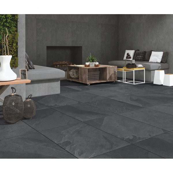 Total Tile and Bathrooms | Brazilian Black 60 x 90 x 2cm | Outdoor Paver | Roomset 1