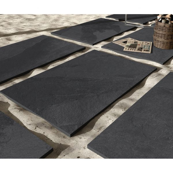 Total Tile and Bathrooms | Brazilian Black 60 x 90 x 2cm | Outdoor Paver | Roomset 3