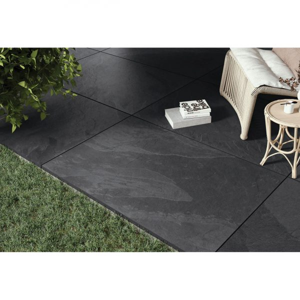 Total Tile and Bathrooms | Brazilian Black 60 x 90 x 2cm | Outdoor Paver | Roomset 4