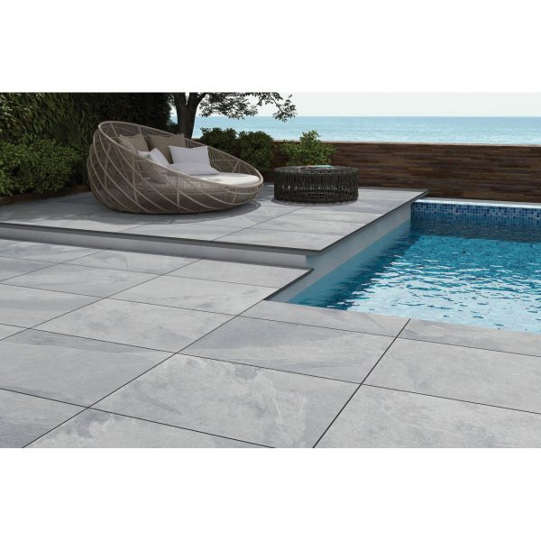 Total Tile and Bathrooms   Brazilian Grey 60 x 90 x 2cm   Outdoor Paver   Roomset 1