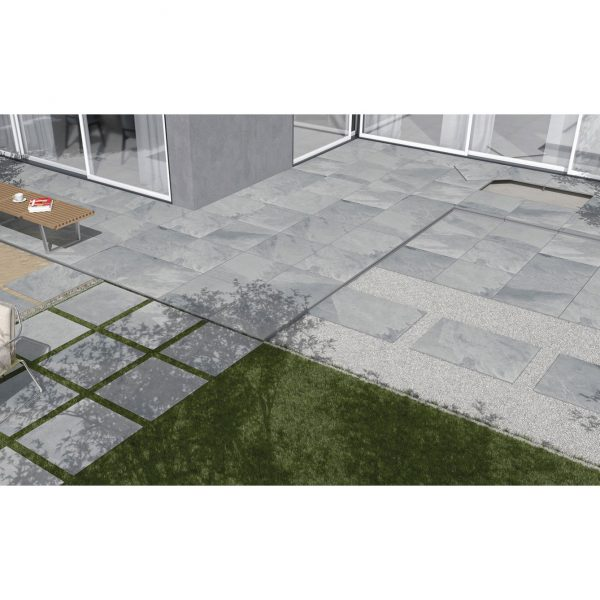 Total Tile and Bathrooms   Brazilian Grey 60 x 90 x 2cm   Outdoor Paver   Roomset 2