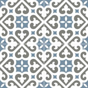 Total Tile and Bathrooms | Crewe | Cheshire | Bristol Stanmore Pattern Blue Tile | 45x45