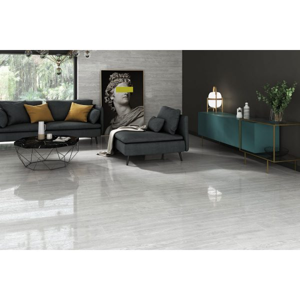 Total Tile and Bathrooms | Candlewood Gris 20 x 120cm | Floor Tile | Roomset