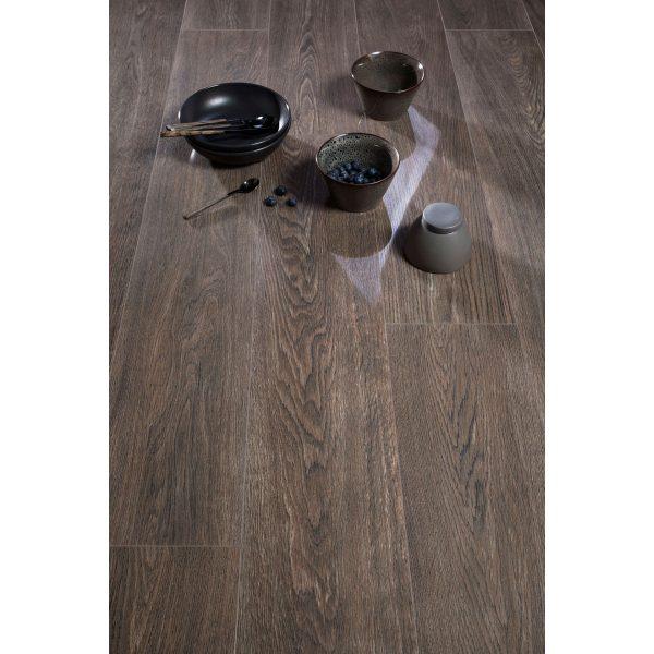 Total Tile and Bathrooms   Candlewood Nogal 20 x 120cm   Floor Tile   Roomset