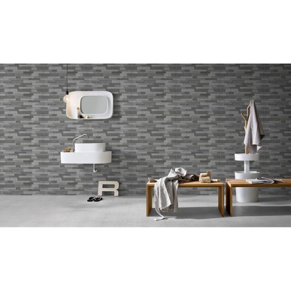 Total Tile and Bathrooms | Crewe | Cheshire | Cemento Rustico | Light Grey+Mix Decor | Roomset