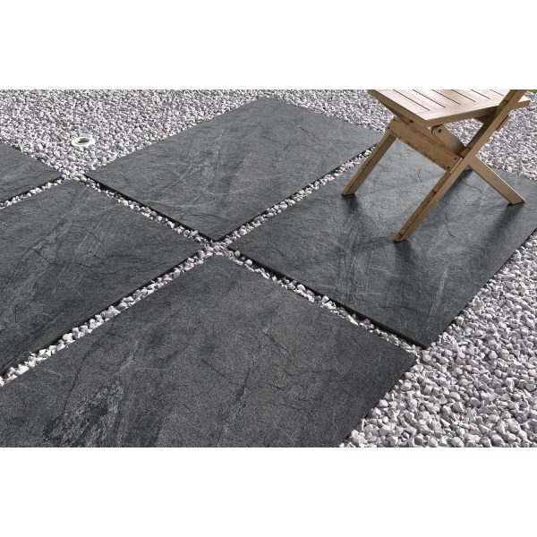 Total Tile and Bathrooms | County Anthracite 60 x 90 x 2cm | Outdoor Paver | Roomset 1
