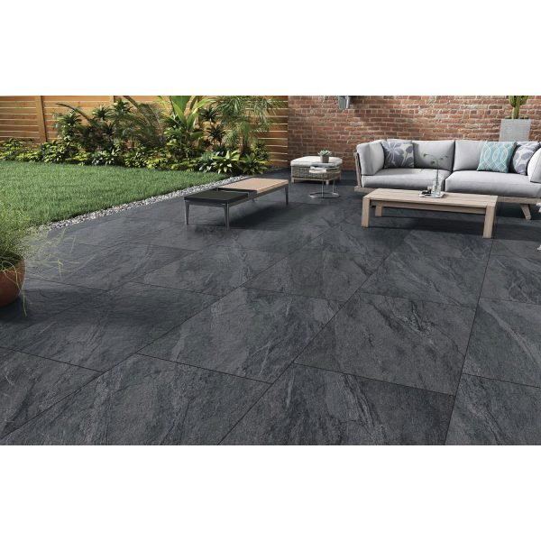 Total Tile and Bathrooms | County Anthracite 60 x 90 x 2cm | Outdoor Paver | Roomset 3