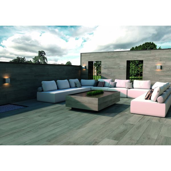 Total Tile and Bathrooms   Everglow Ash 29.5 x 120 x 2cm   Outdoor Paver   Roomset 2