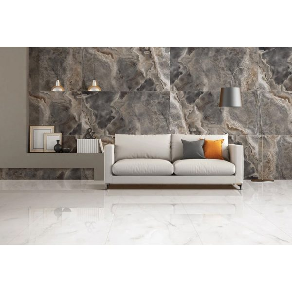 Total Tile and Bathrooms | Crewe | Cheshire | Gun Smoke Grande Tile | Roomset 1