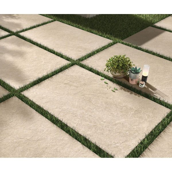 Total Tile and Bathrooms   Hammer Stone Beige 60 x 90 x 2cm   Outdoor Paver   Roomset 1