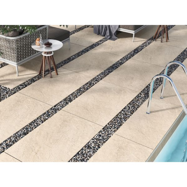 Total Tile and Bathrooms   Hammer Stone Beige 60 x 90 x 2cm   Outdoor Paver   Roomset 2