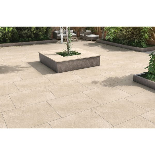 Total Tile and Bathrooms   Hammer Stone Beige 60 x 90 x 2cm   Outdoor Paver   Roomset 3