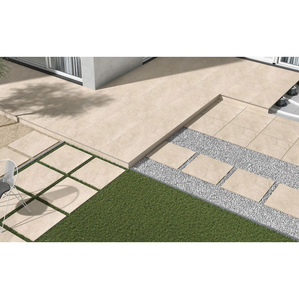 Total Tile and Bathrooms   Hammer Stone Beige 60 x 90 x 2cm   Outdoor Paver   Roomset 4