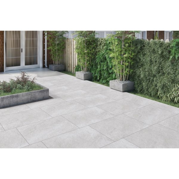 Total Tile and Bathrooms   Hammer Stone Grey 60 x 90 x 2cm   Outdoor Paver   Roomset 1