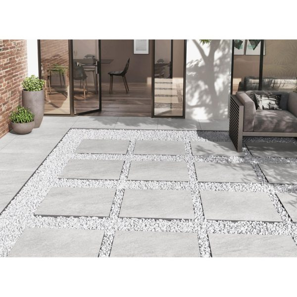 Total Tile and Bathrooms   Hammer Stone Grey 60 x 90 x 2cm   Outdoor Paver   Roomset 2