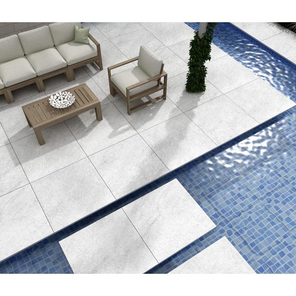 Total Tile and Bathrooms   Hammer Stone Grey 60 x 90 x 2cm   Outdoor Paver   Roomset 3