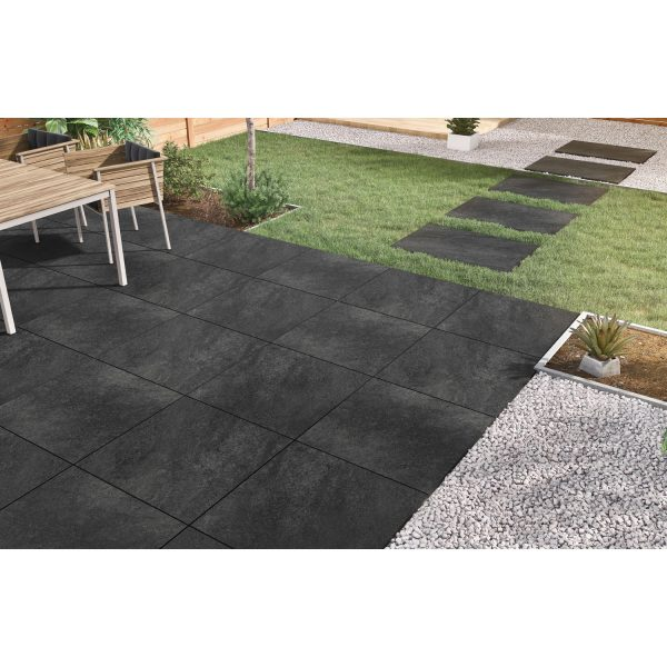 Total Tile and Bathrooms   Hammer Stone Nero 60 x 90 x 2cm   Outdoor Paver   Roomset 3