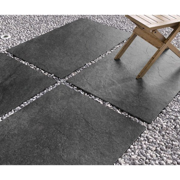 Total Tile and Bathrooms   Hammer Stone Nero 60 x 90 x 2cm   Outdoor Paver   Roomset 5