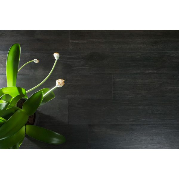 Total Tile and Bathrooms | Hardwood Negro 20 x 120cm | Wood Effect Floor Tile | Roomset