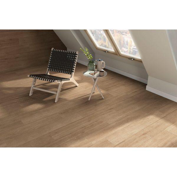 Total Tile and Bathrooms | Hardwood Nogal 20 x 120cm | Wood Effect Floor Tile | Roomset