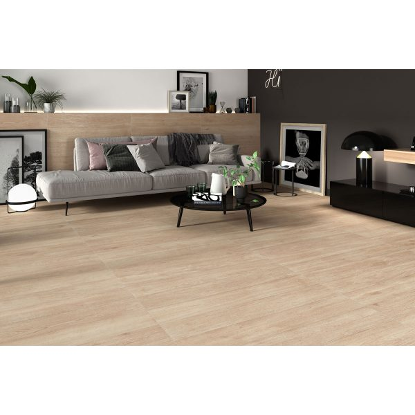 Total Tile and Bathrooms   Hardwood Roble 20 x 120cm   Wood Effect Floor Tile   Roomset