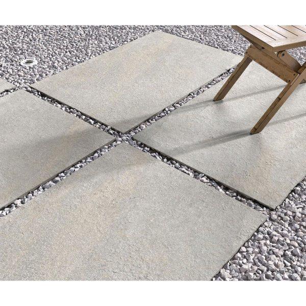 Total Tile and Bathrooms   Hazle Stone Ash 60 x 90 x 2cm   Outdoor Paver   Roomset 2