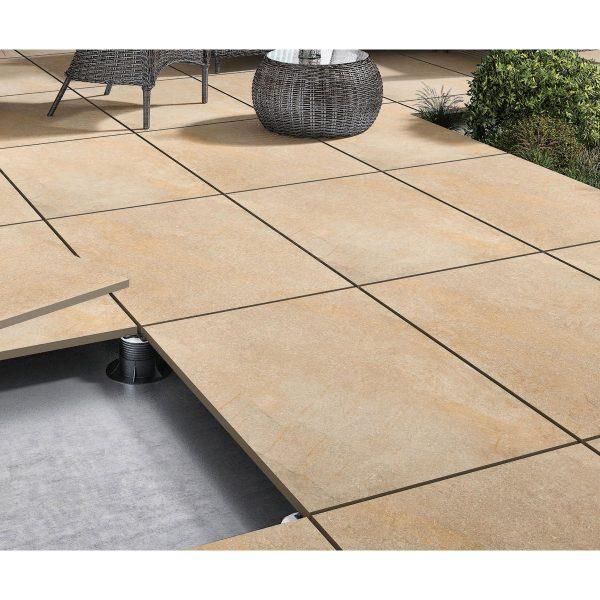 Total Tile and Bathrooms | Hazle Stone Beige 60 x 90 x 2cm | Outdoor Paver | Roomset 2