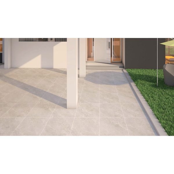 Total Tile and Bathrooms   Jupiter Ice 60 x 60 x 2cm   Outdoor Paver   Roomset