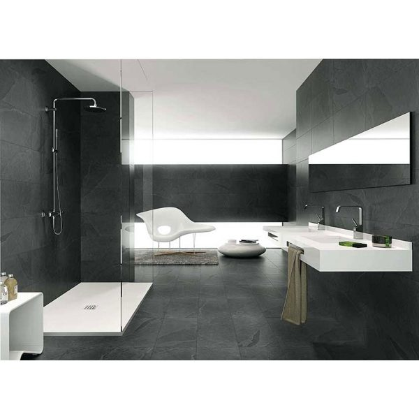 Total Tile and Bathrooms | Crewe | Cheshire | Lajedo Black Tile | Roomset 1