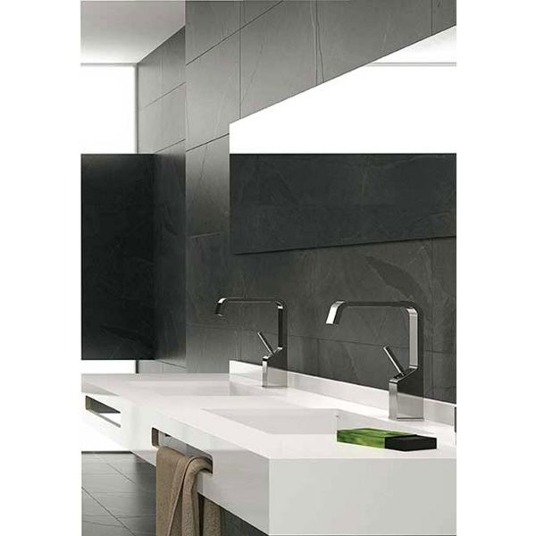 Total Tile and Bathrooms | Crewe | Cheshire | Lajedo Black Tile | Roomset 2