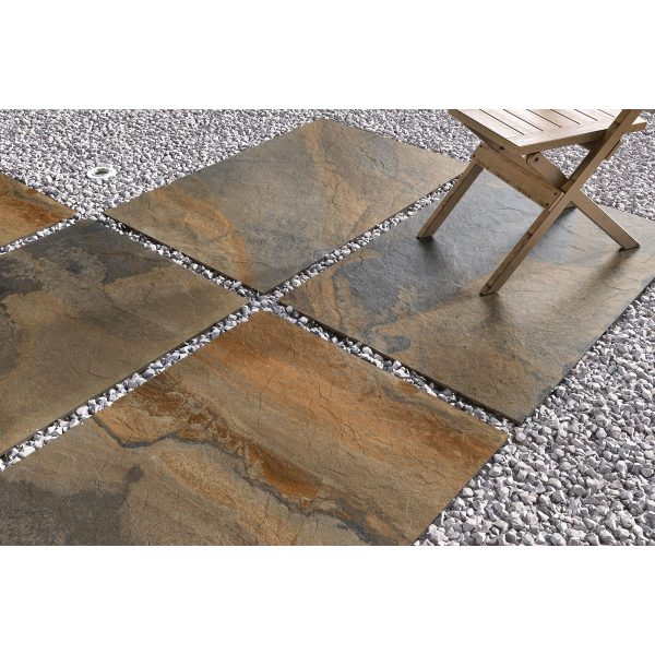 Total Tile and Bathrooms   Slate Impero Multi Coloured 60 x 90 x 2cm   Outdoor Paver   Roomset 1