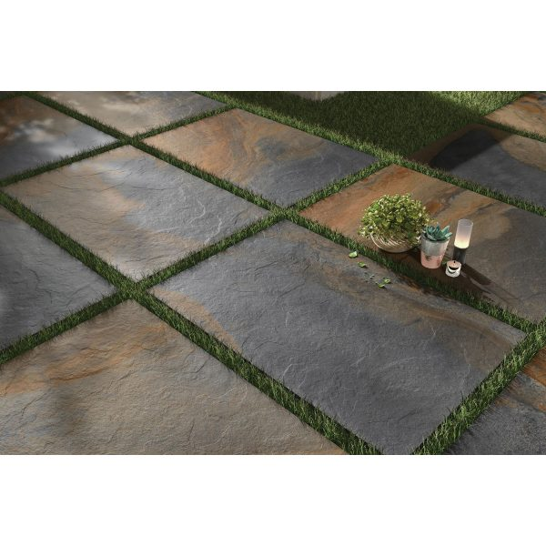 Total Tile and Bathrooms   Slate Impero Multi Coloured 60 x 90 x 2cm   Outdoor Paver   Roomset 2