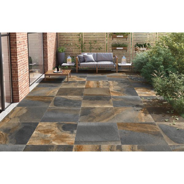 Total Tile and Bathrooms   Slate Impero Multi Coloured 60 x 90 x 2cm   Outdoor Paver   Roomset 5